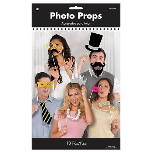 Set photo booth Elegance per selfie e foto 13 pezzi