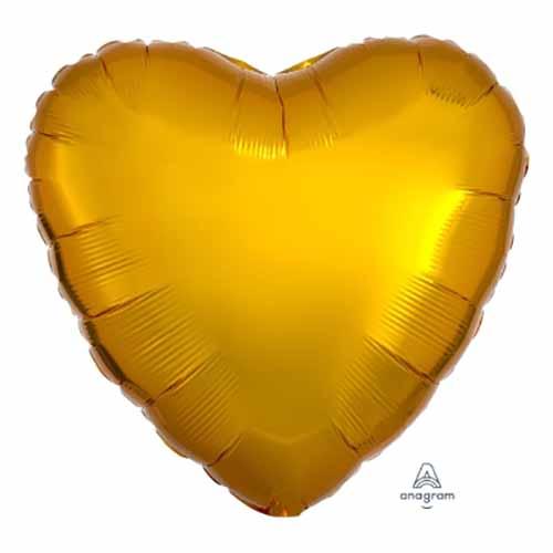 Palloncino cuore oro 43 cm 1 pezzo