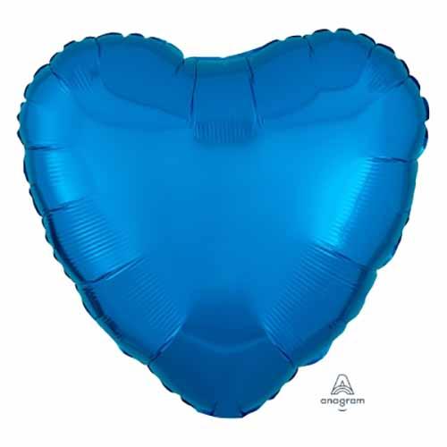 Palloncino cuore blu 43 cm 1 pezzo