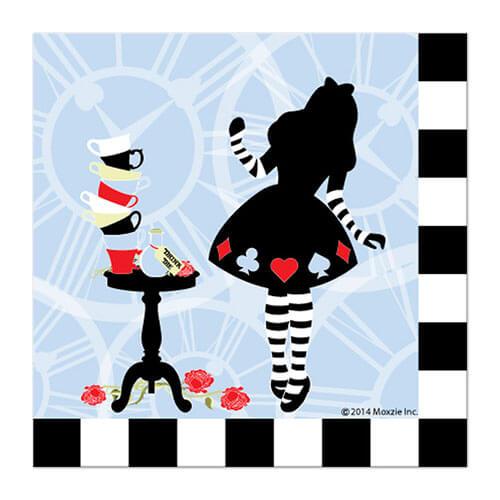 Tovaglioli Alice in Wonderland grandi 16 pezzi