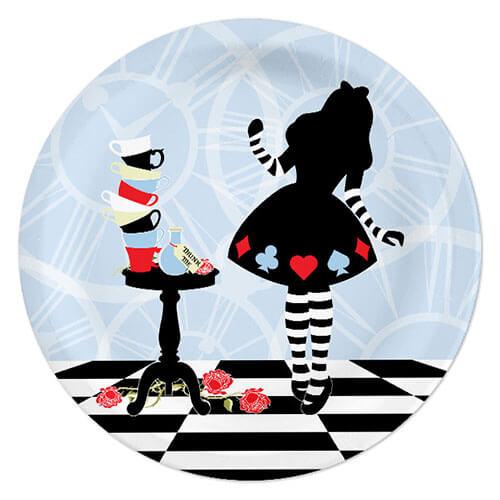 Piatti Alice in Wonderland grandi 8 pezzi