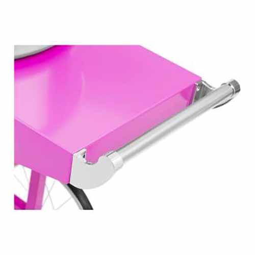 Macchina e carrello per zucchero filato 52 cm 1200 watt rosa pastello