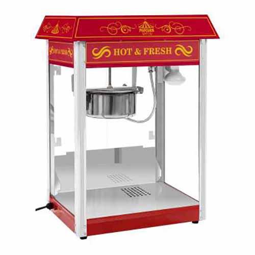 Macchina e carrello per popcorn 1600 watt rosso