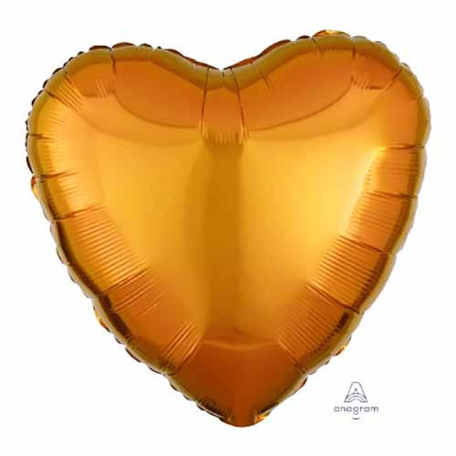 Palloncino cuore arancione 43 cm 1 pezzo