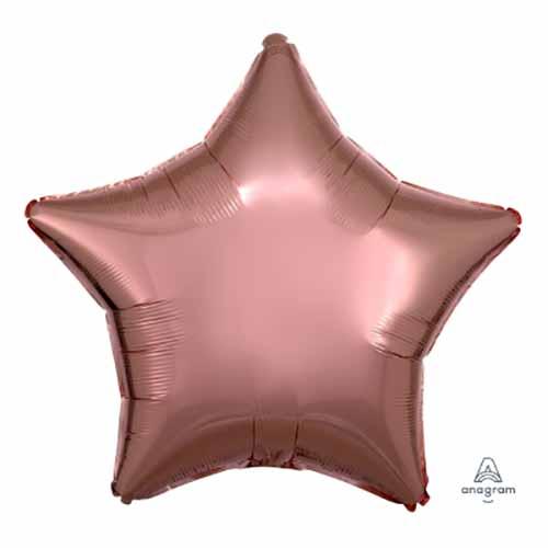 Palloncino stella oro rosa 48 cm 1 pezzo
