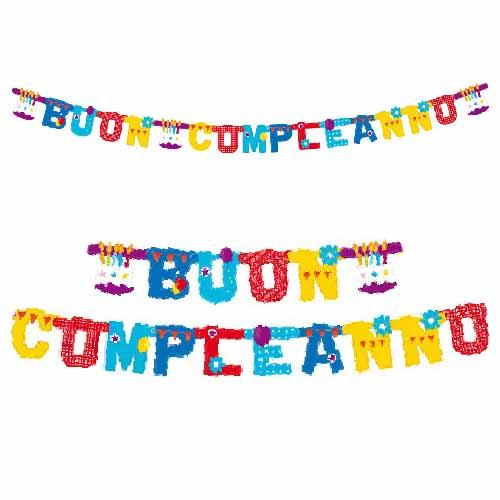 Festone Compleanno XL scritta Buon Compleanno 265 cm 1 pezzo