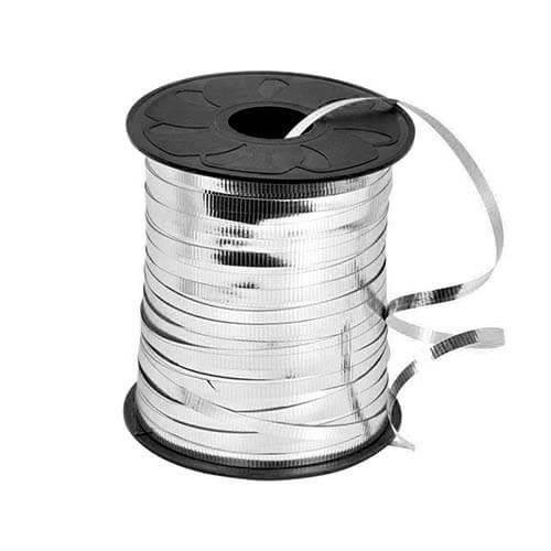 Nastro argento metallizzato per palloncini e confezioni regalo 1 pezzo