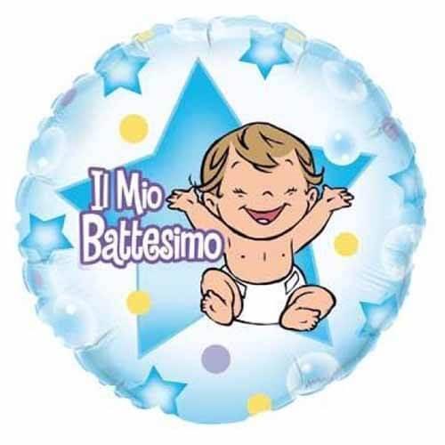 Palloncino Il mio Battesimo bambino 45 cm 1 pezzo