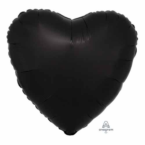 Palloncino cuore nero 43 cm 1 pezzo