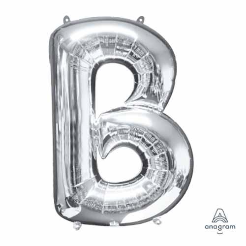 Palloncino lettera B argento SuperShape 1 pezzo