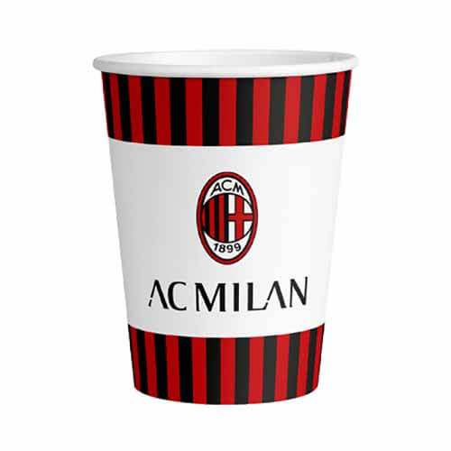 Bicchieri AC Milan grandi 8 pezzi