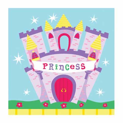 Tovaglioli castello delle Principesse 16 pezzi