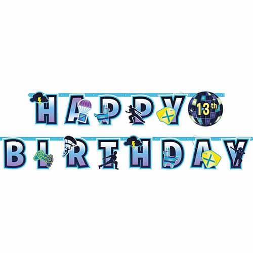 Festone Battle Royal happy birthday anni personalizzabili 1 pezzo