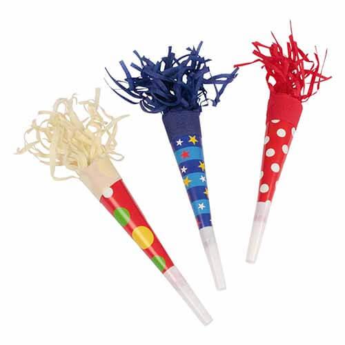 Trombette multicolore 3 pezzi