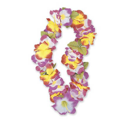 Collana fiori multicolore 1 pezzo