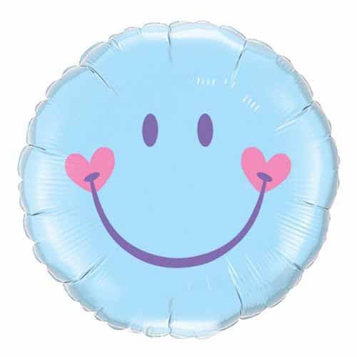 Palloncino smile celeste pastello 45 cm 1 pezzo