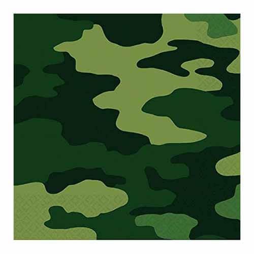 Tovaglioli Militare Mimetico 16 pezzi