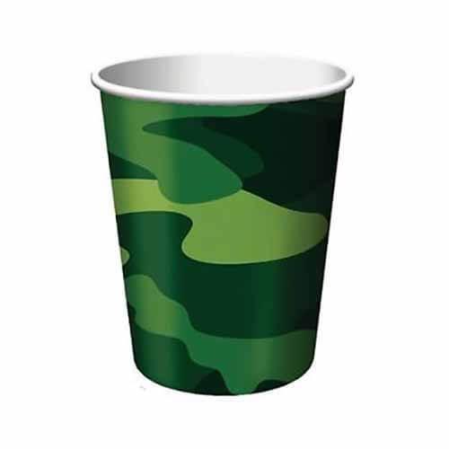 Bicchieri Militare Mimetico 8 pezzi