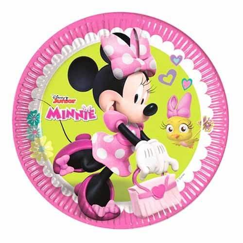 Piatti Minnie Helpers Disney 8 pezzi