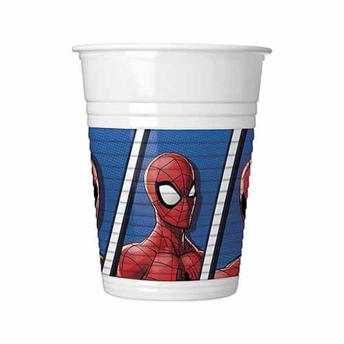 Bicchieri Spider-Man Team Up 8 pezzi