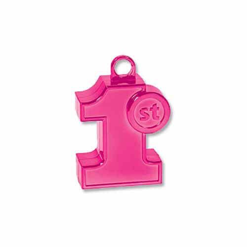 Pesino numero 1 rosa primo compleanno per ancorare palloncini 1 pezzo