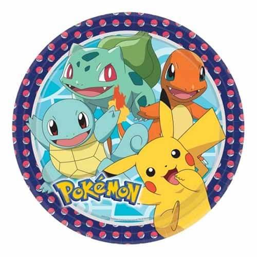 Piatti Pokemon GO grandi 8 pezzi