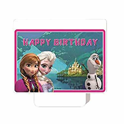Candelina Frozen Disney decorazione torta 1 pezzo