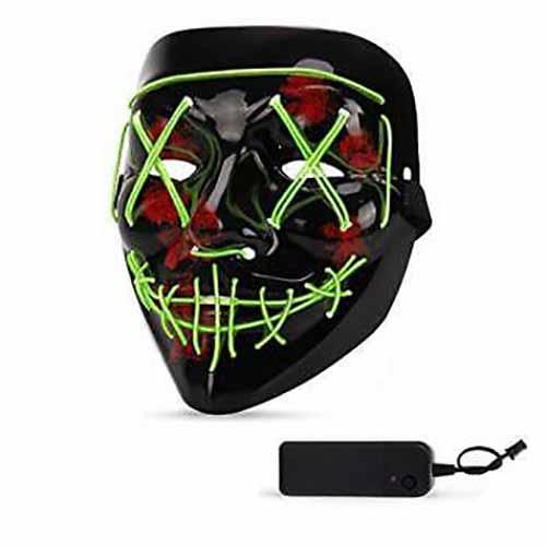 Maschera nera led linea Fluo Glow 1 pezzo