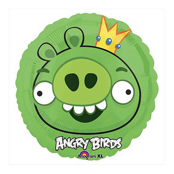 Palloncino King Pig Angry Birds 45 cm 1 pezzo