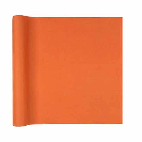 Tovaglia runner arancione 40 x 480 cm 1 rotolo