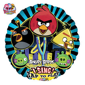 Palloncino musicale Angry Birds melodia happy BDay Sing-A-Tune 1 pezzo