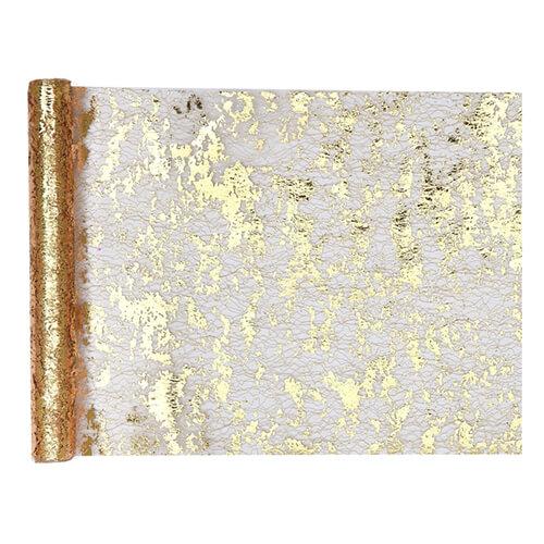 Tovaglia runner oro metallizzato 28 cm x 5 m 1 rotolo