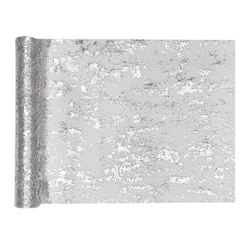 Tovaglia runner argento metallizzato 28 cm x 5 m 1 rotolo