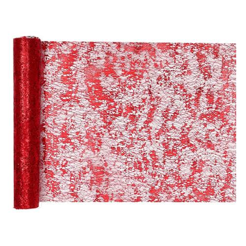 Tovaglia runner rosso metallizzato 28 cm x 5 m 1 rotolo