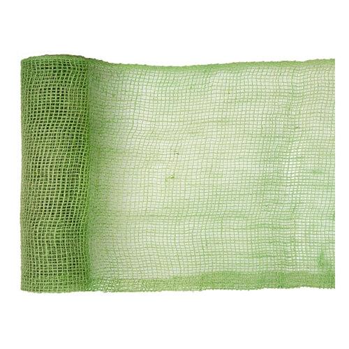 Tovaglia runner verde lime eco naturale juta 26 cm x 5 m 1 rotolo