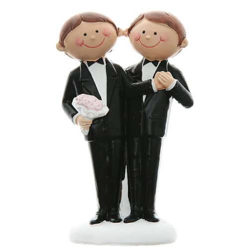 Topper miniatura lui e lui sposi 1 pezzo
