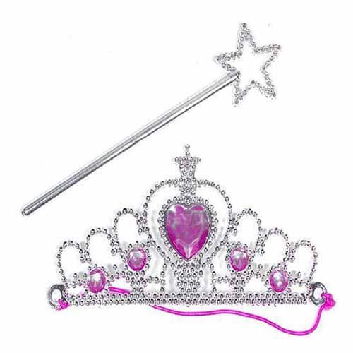 Tiara principessa con bacchetta 2 pezzi