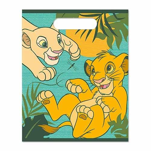 Buste Il Re Leone Disney regali fine festa 8 pezzi