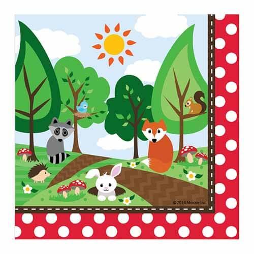 Tovaglioli animali del bosco 16 pezzi