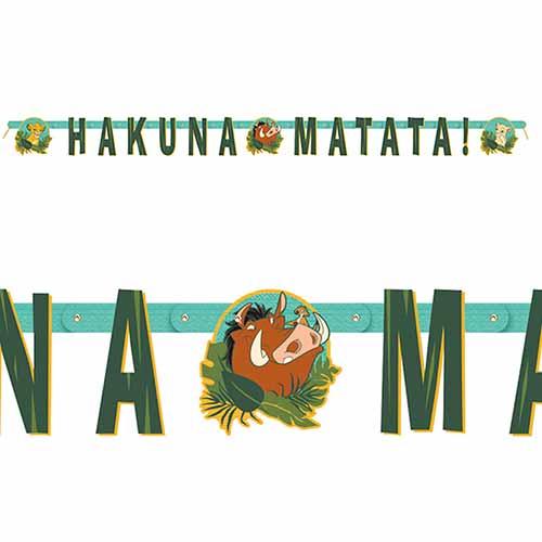Festone Il Re Leone Disney scritta hakuna matata 1 pezzo