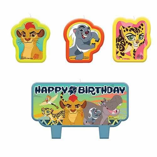 Candeline La Guardia del Leone Disney 4 pezzi