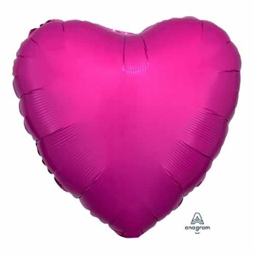Palloncino cuore magenta 43 cm 1 pezzo