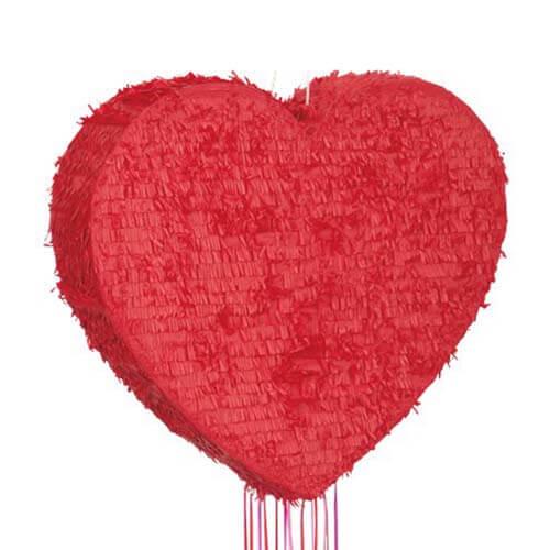 Pignatta cuore rosso tira e apri 1 pezzo