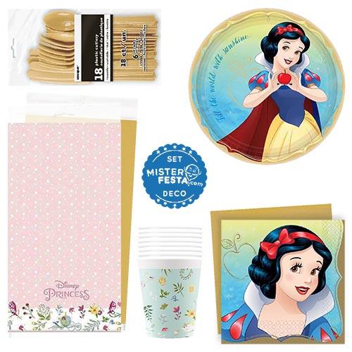 Set festa Biancaneve Disney Premium 8 invitati