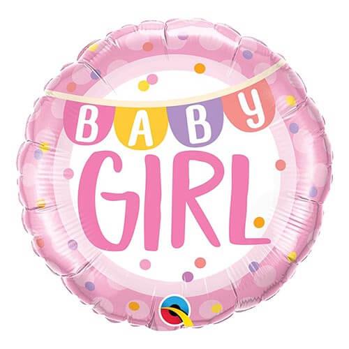 Palloncino festone baby girl pois 45 cm 1 pezzo
