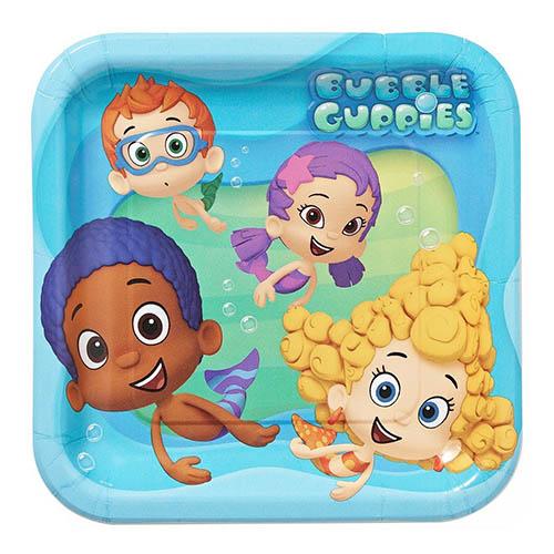 Piatti Bubble Guppies grandi 8 pezzi