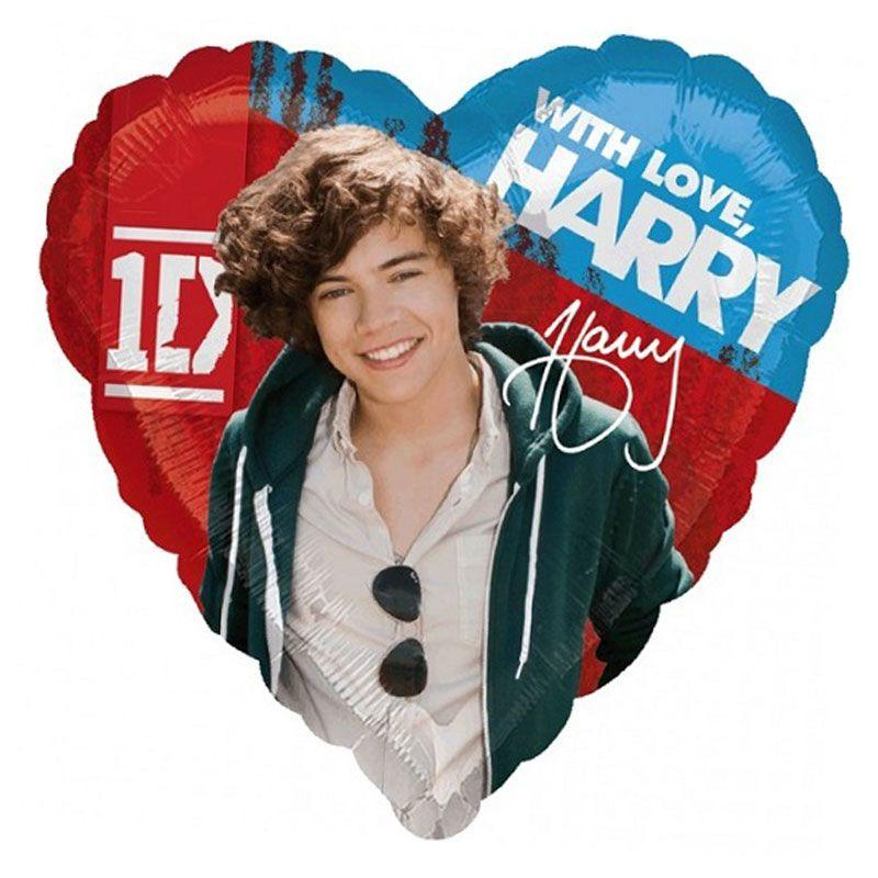 Palloncino cuore One Direction Harry 45 cm 1 pezzo