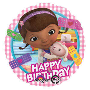 Palloncino Dottoressa Peluche compleanno scritta happy BDay 45 cm 1 pezzo