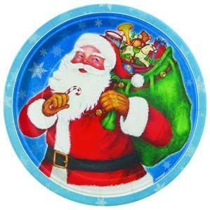 Piatti Natale Night Before Christmas grandi 8 pezzi