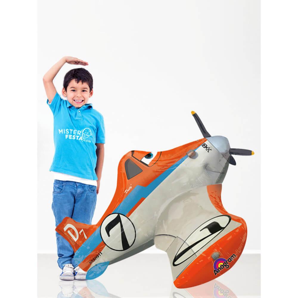 Palloncino Dusty Planes Disney mascotte AirWalkers 1 pezzo